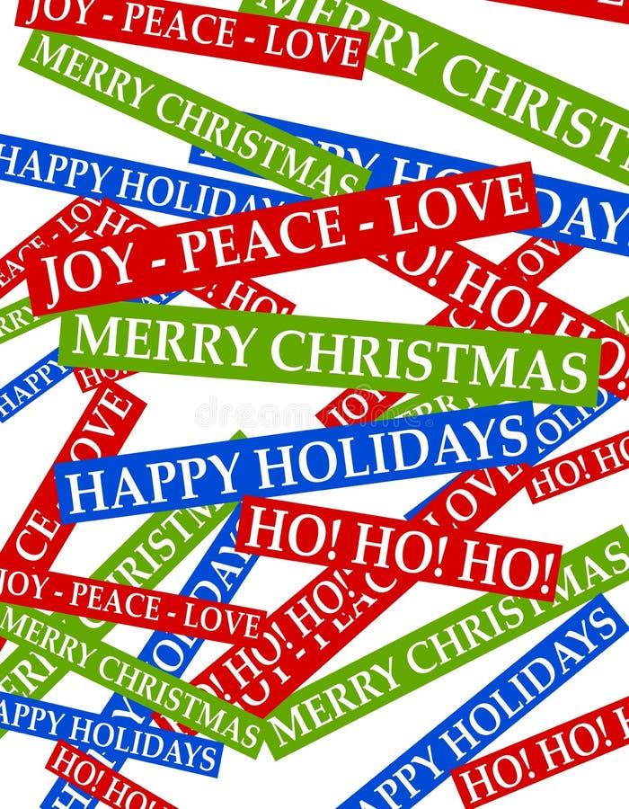 Achtergrond 2 van de Groeten van Kerstmis vector illustratie