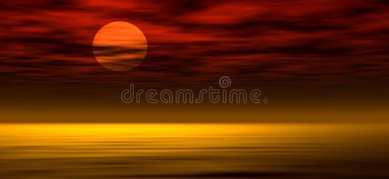 Achtergrond 2 van de zonsondergang stock illustratie