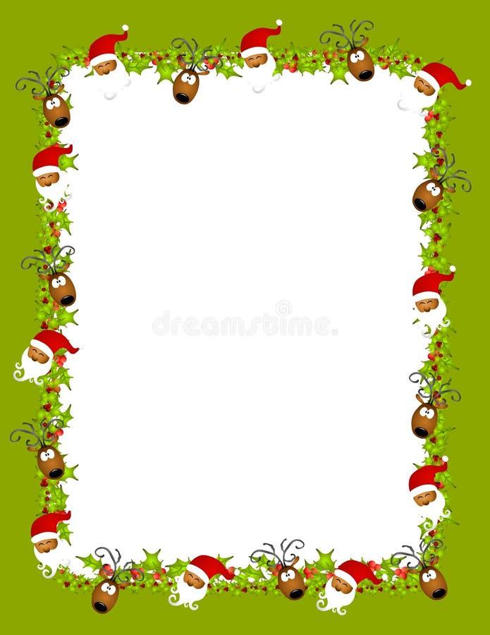 Achtergrond 2 van het Rendier van de kerstman royalty-vrije illustratie