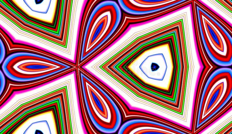 Achtergrond 28 van het Patroon van de Tegel van het Patroon van de kleur stock illustratie