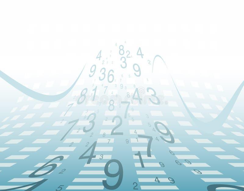 Achtergrond aantallen. vector illustratie