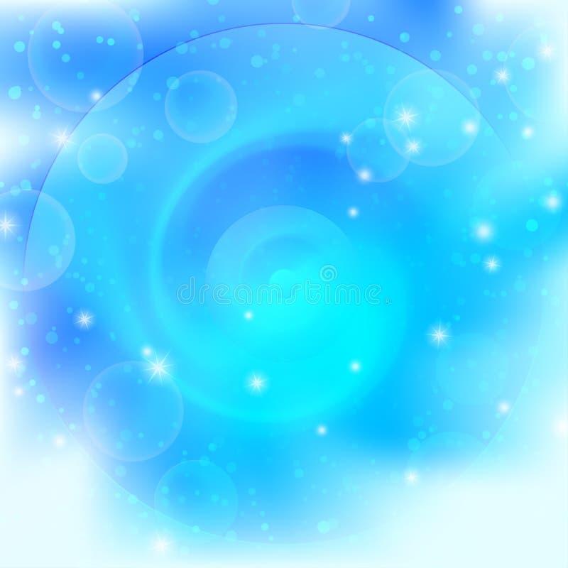 Achtergrond, abstract helder blauw royalty-vrije illustratie