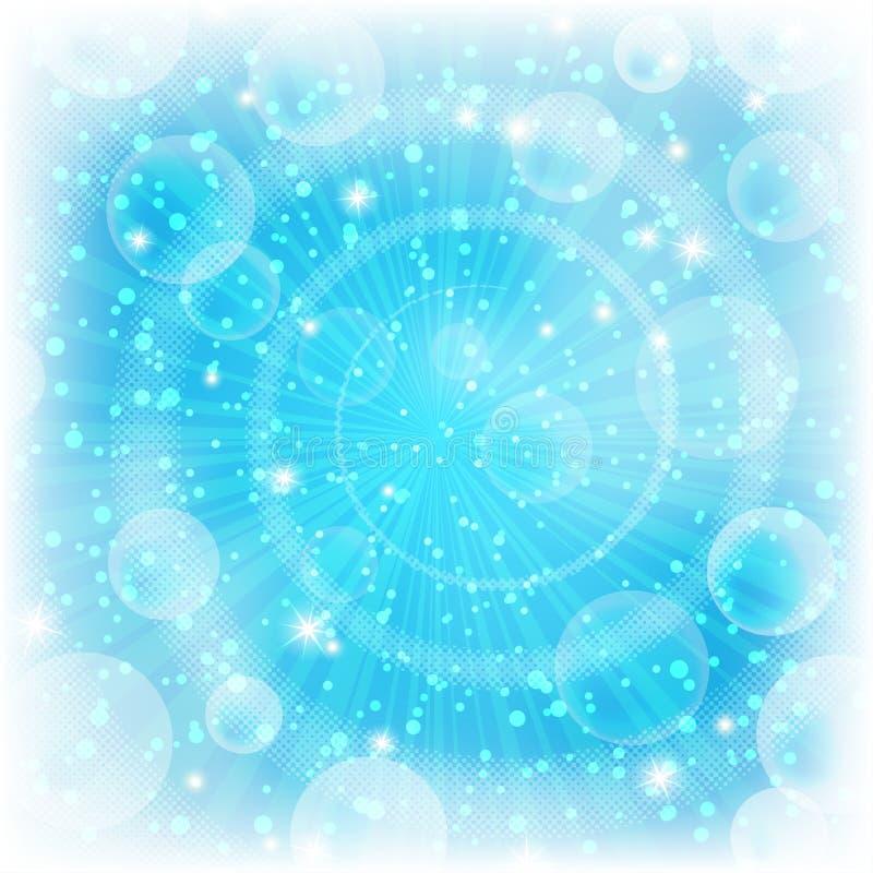 Achtergrond, abstract helder blauw stock illustratie