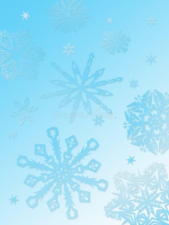 Achtergrond-aqua van de sneeuwvlok stock illustratie
