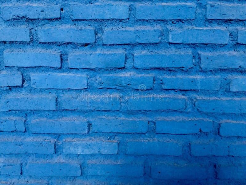 Achtergrond Bakstenen muur Blauw stock foto