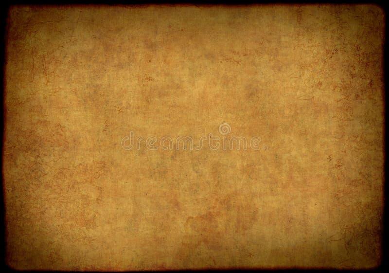 Achtergrond - blad van het oude, bevuilde document royalty-vrije illustratie
