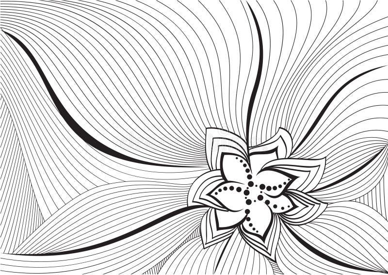 Achtergrond bloem stock illustratie