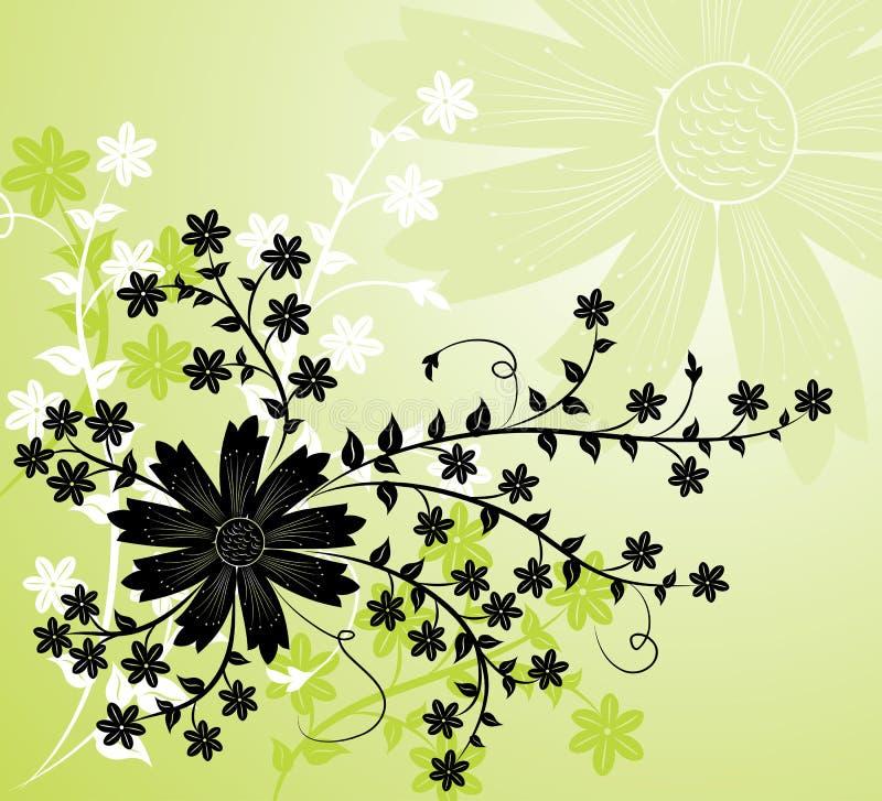 Achtergrond bloem, elementen voor ontwerp, vector vector illustratie