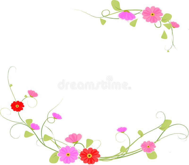 Achtergrond bloem, vector royalty-vrije illustratie