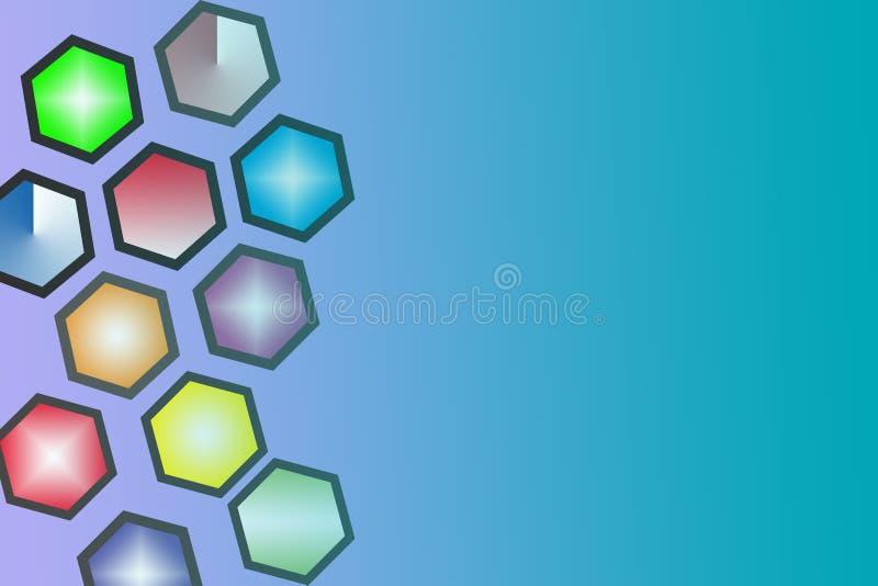 Achtergrond, cirkel, kleur, zeshoek, oppervlakte stock fotografie