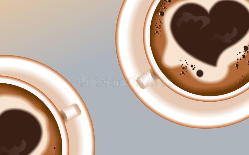 Achtergrond coffee4 stock afbeelding