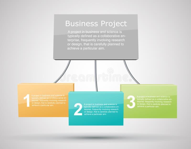 Achtergrond de bedrijfs van het Project vector illustratie