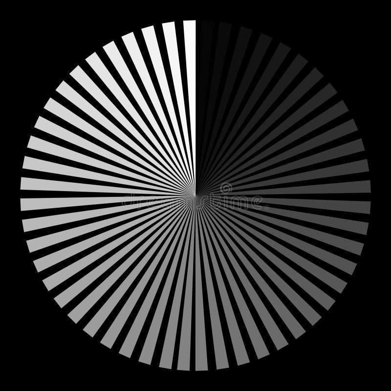 Achtergrond in de vorm van een witte bal van stralen het spiraalsgewijs bewegen royalty-vrije illustratie