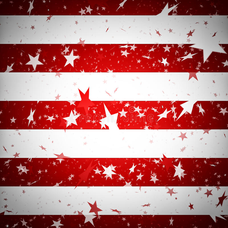 Achtergrond die de Amerikaanse vlag simuleert royalty-vrije stock fotografie
