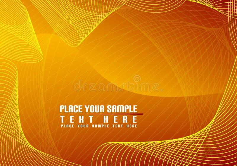 Achtergrond die van vierkanten en golven wordt gemaakt vector illustratie