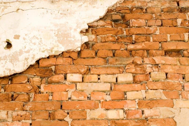Achtergrond een bakstenen muur royalty-vrije stock foto