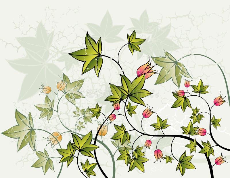 Achtergrond en bloemen, vector stock illustratie