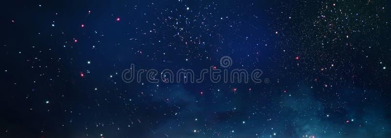 Achtergrond en samenvatting Melkweg, nevel en Sterrige kosmische ruimtetextuur stock afbeeldingen