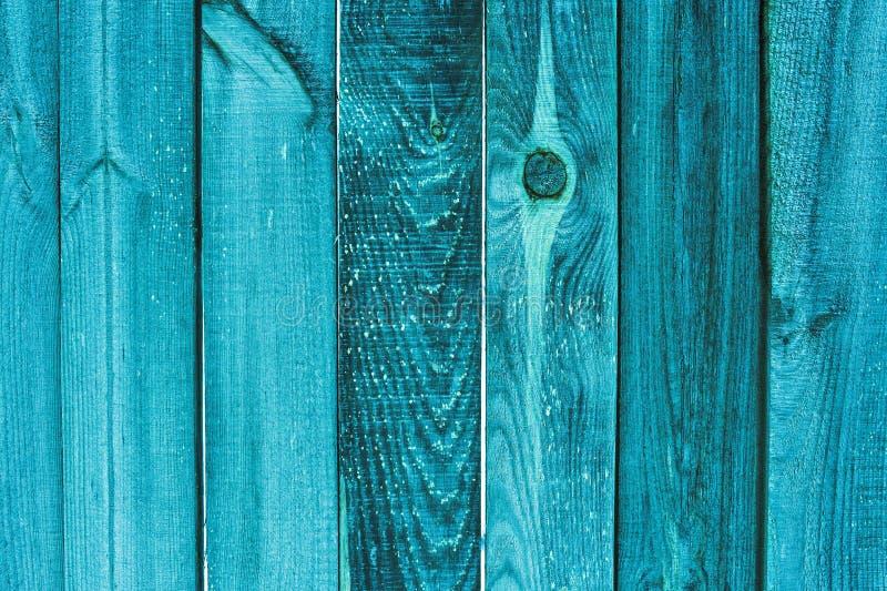 Achtergrond en textuurconcepten oude houten turkooise omheining stock foto