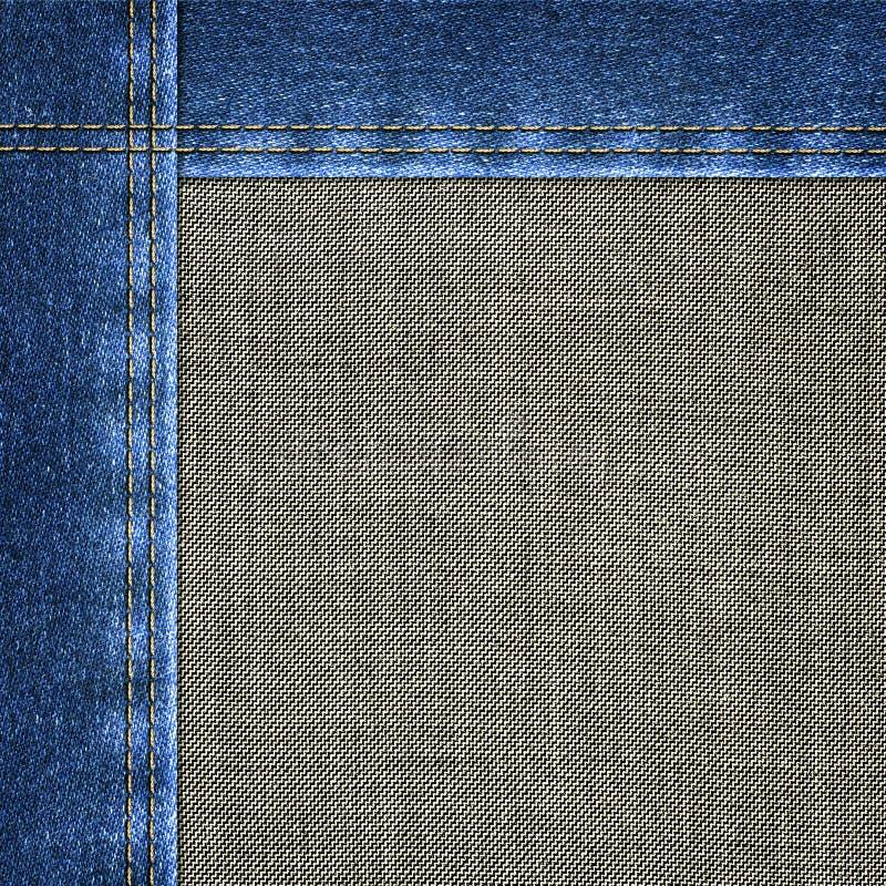 Achtergrond gecombineerd denimclose-up stock foto