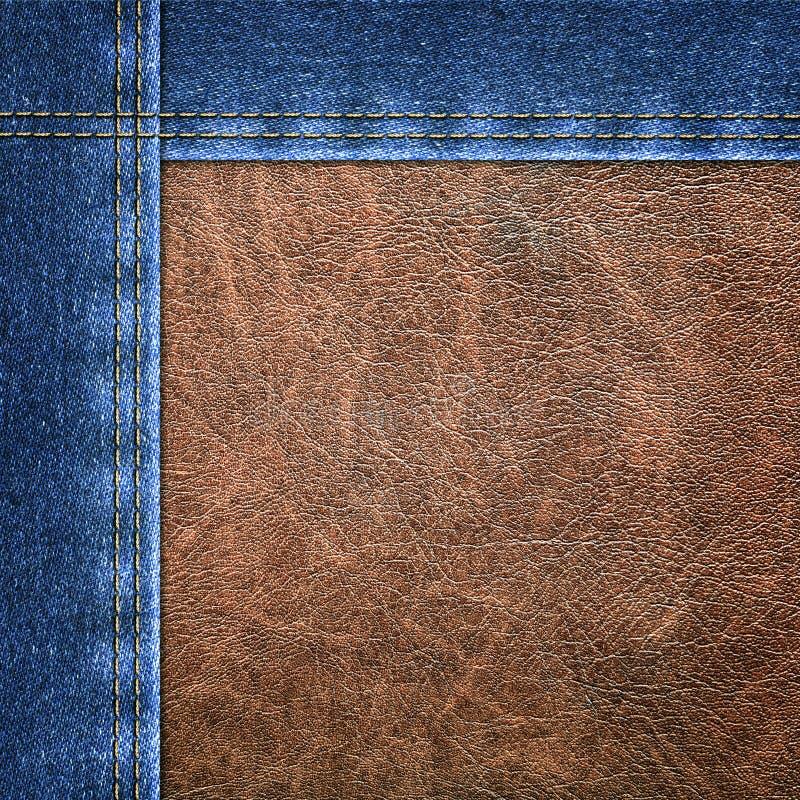 Achtergrond gecombineerd denimclose-up stock afbeeldingen