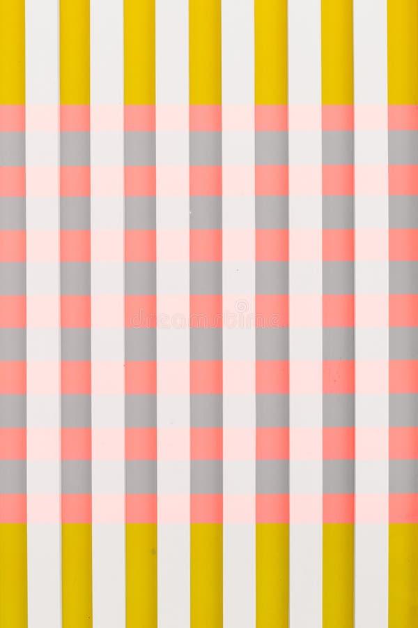 Achtergrond gekleurd streep horizontaal verticaal vierkant stock illustratie
