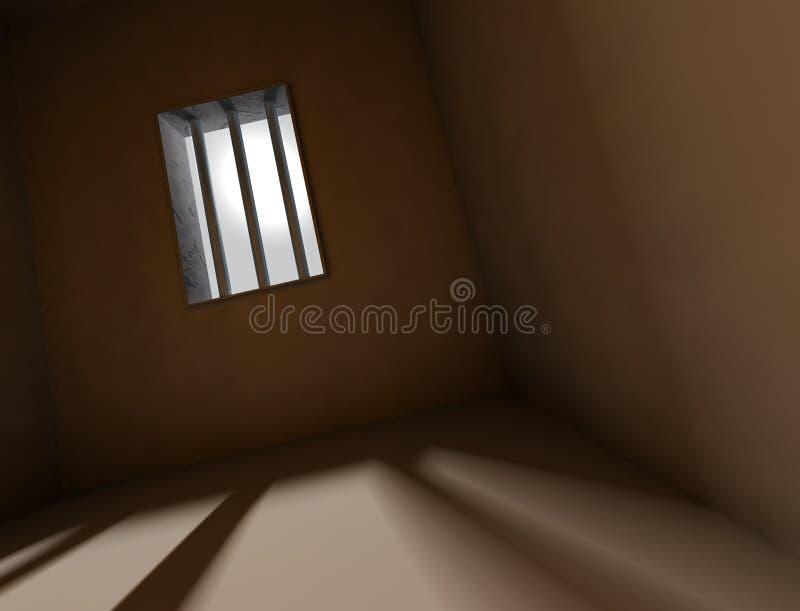 Achtergrond gevangenis royalty-vrije illustratie