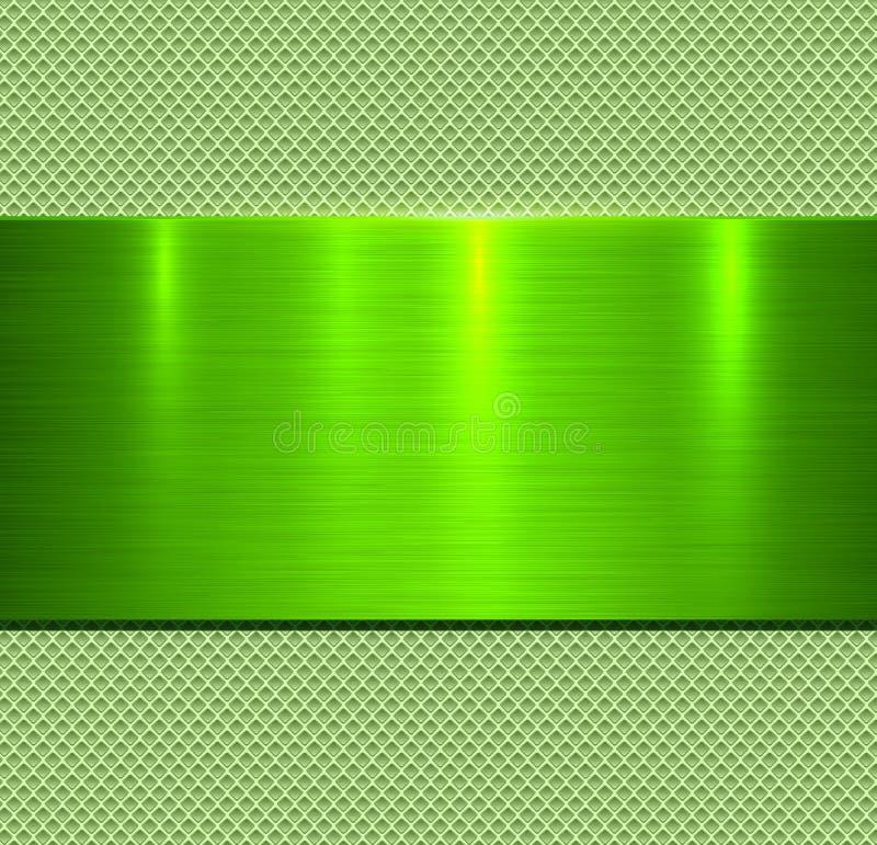 Achtergrond groene metaaltextuur royalty-vrije stock afbeeldingen