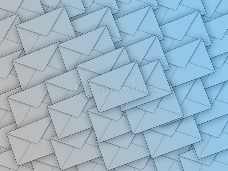 Achtergrond hoogtepunt van enveloppen royalty-vrije illustratie