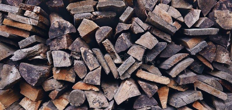 Achtergrond, houten dwarsdoorsnede Structuur van natuurlijke houtblokken, wandbekleding royalty-vrije stock foto's