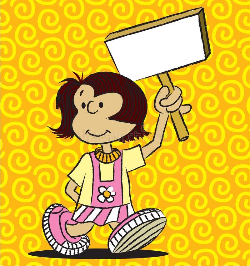 Achtergrond Meisje stock illustratie