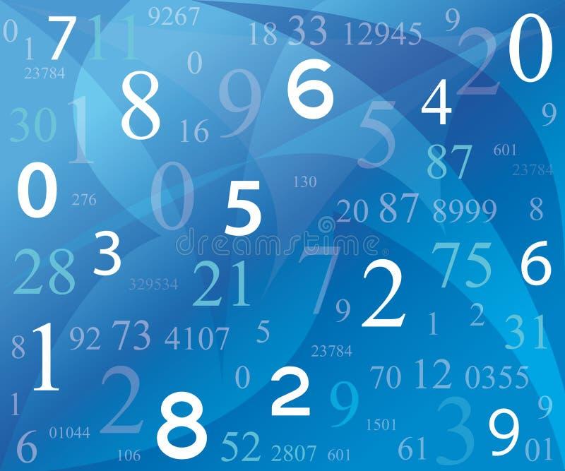 Achtergrond met aantallen vector illustratie
