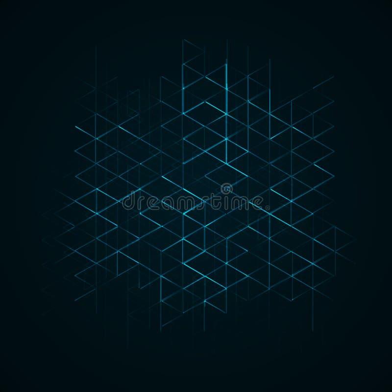 Achtergrond met abstract de bouwplan vector illustratie