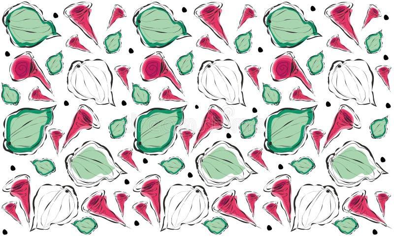 Achtergrond met abstracte bloemen die editable vector herhalen vector illustratie