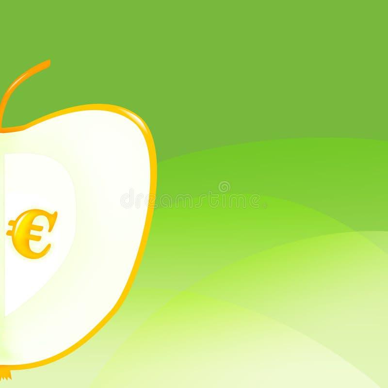 Achtergrond met appel royalty-vrije illustratie