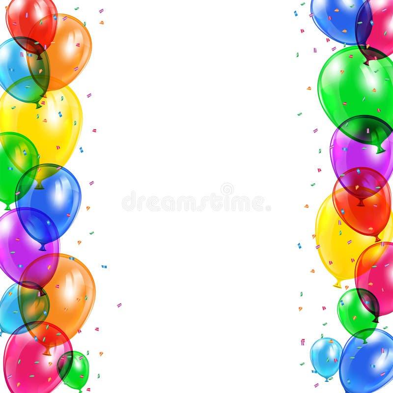 Achtergrond met ballons vector illustratie