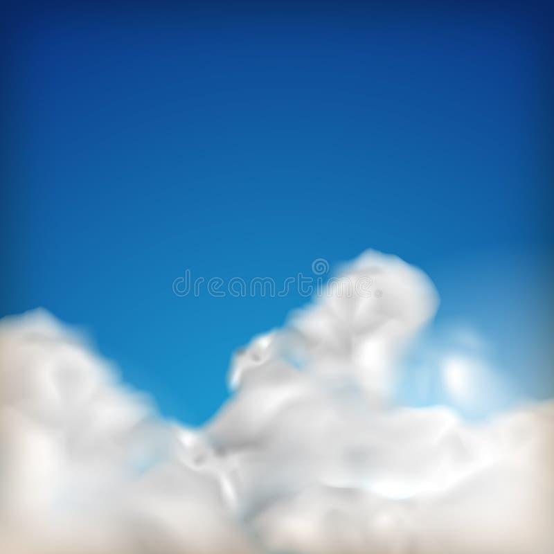 Achtergrond met blauwe hemel en wolken royalty-vrije stock afbeeldingen