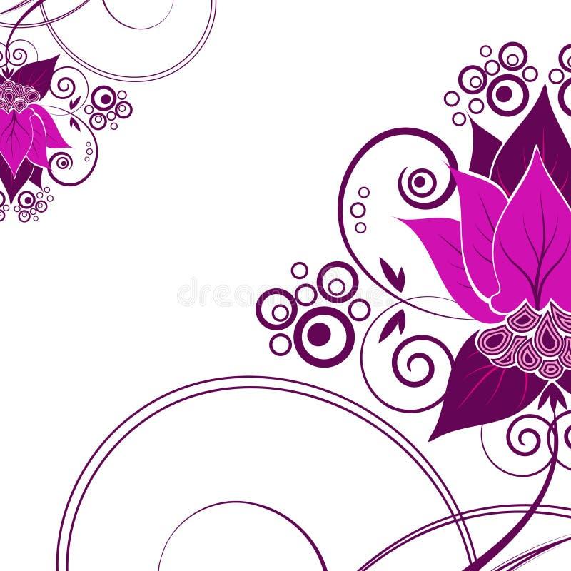 Achtergrond met bloemen royalty-vrije illustratie
