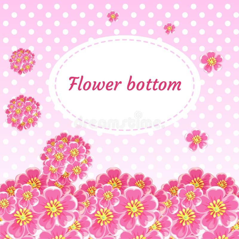 Achtergrond met bloemknoppen en boeketten van kers vector illustratie