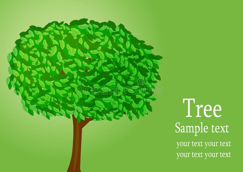 Achtergrond met boom stock illustratie