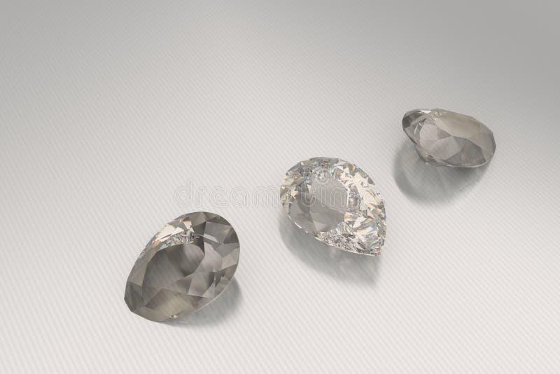 Achtergrond met bruine halfedelstenen 3D Illustratie stock illustratie