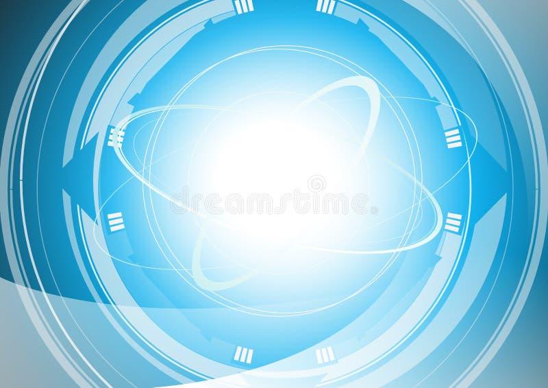 Achtergrond met cirkel royalty-vrije stock afbeeldingen