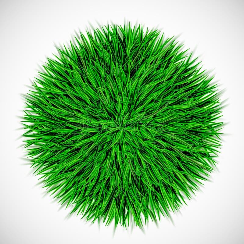 Achtergrond met cirkel van gras royalty-vrije illustratie
