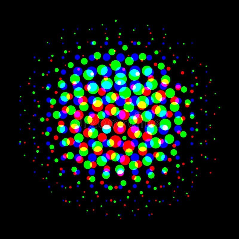 Achtergrond met cirkels van verschillende grootte en kleuren 2 royalty-vrije illustratie