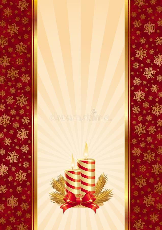 Achtergrond met de kaarsen van Kerstmis stock illustratie