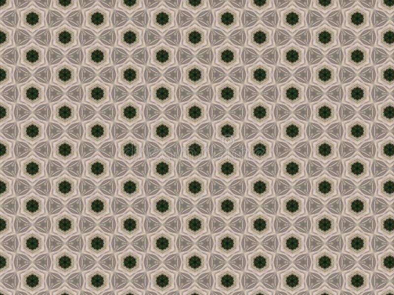 Achtergrond met een feestelijk geometrisch die patroon met gebreid kant wordt verfraaid stock illustratie