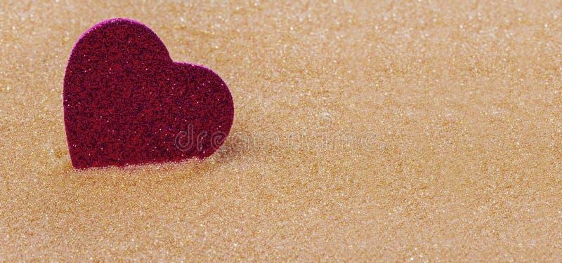 Achtergrond met een hart voor de dag van Valentine ` s stock afbeelding