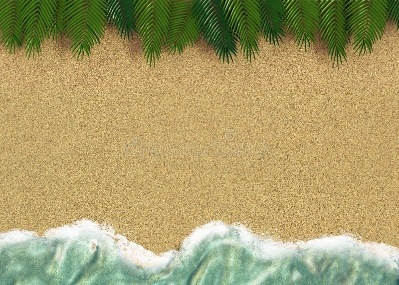 Download Achtergrond Met Een Lijn Van Overzees Water Met Palmen En Zand Stock Illustratie - Illustratie bestaande uit naughty, overzees: 29503827