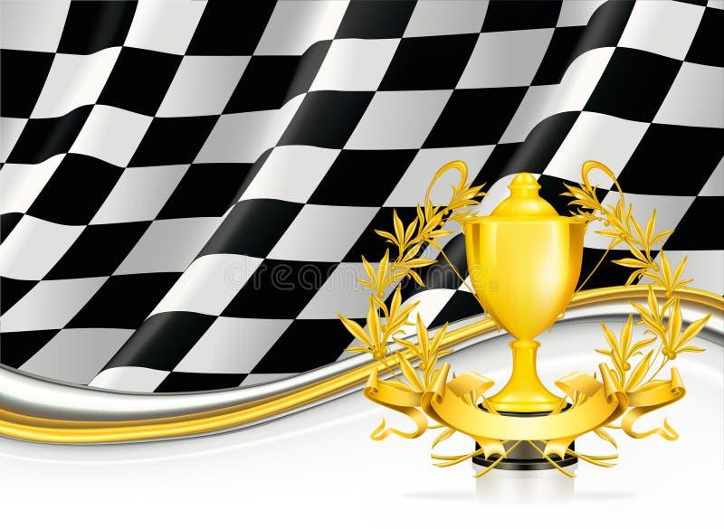 Achtergrond met een Trofee stock illustratie