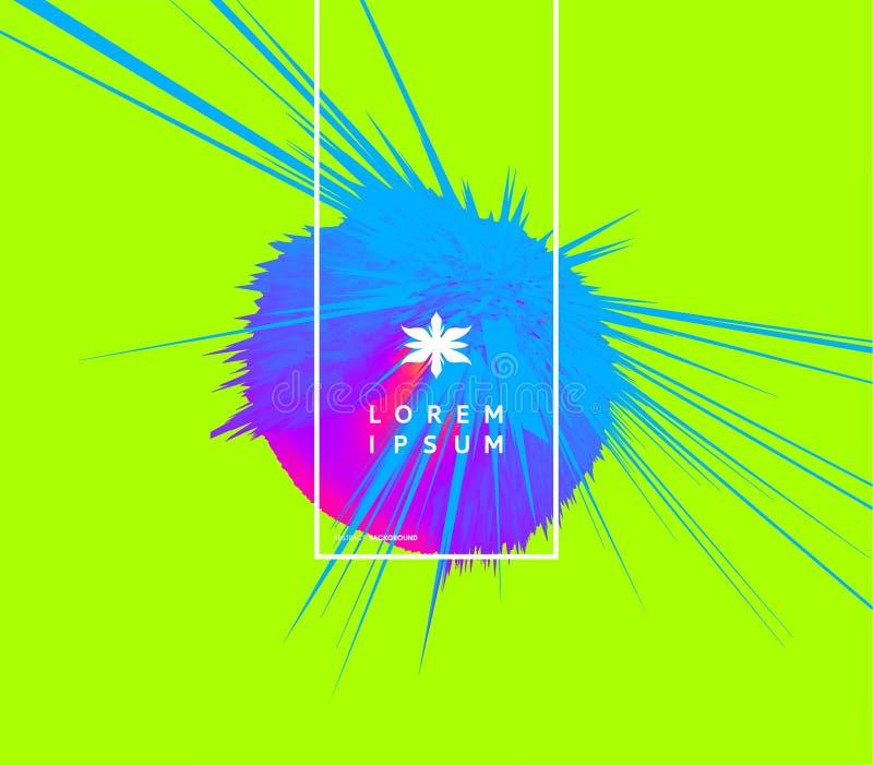 Achtergrond met exploderende stralen Abstracte vectorillustratie met dynamisch effect Het malplaatje van het dekkingsontwerp kan  vector illustratie